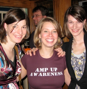 Brigid (middle) at the 2011 Amp Up the Awareness Event